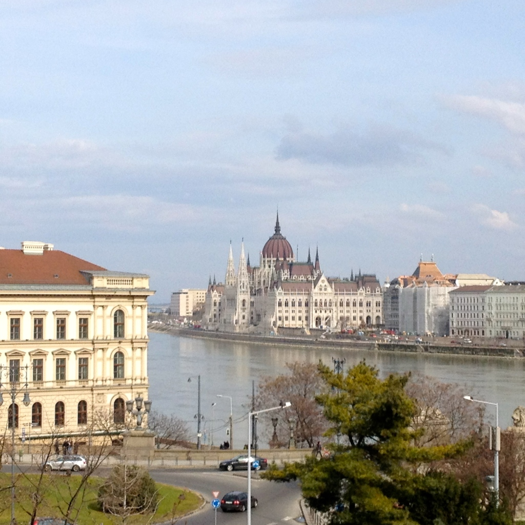 Parliament from Castle Hill in Buda