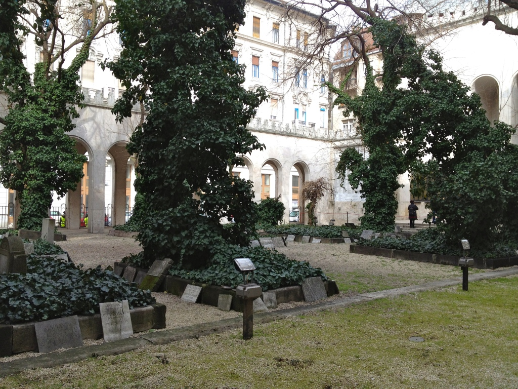 the Memorial Garden, home to 24 mass graves of over 2000 Jews